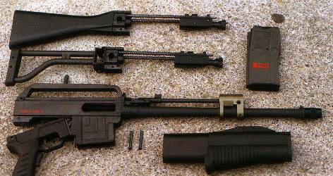 Fucile semiautomatico smontato
